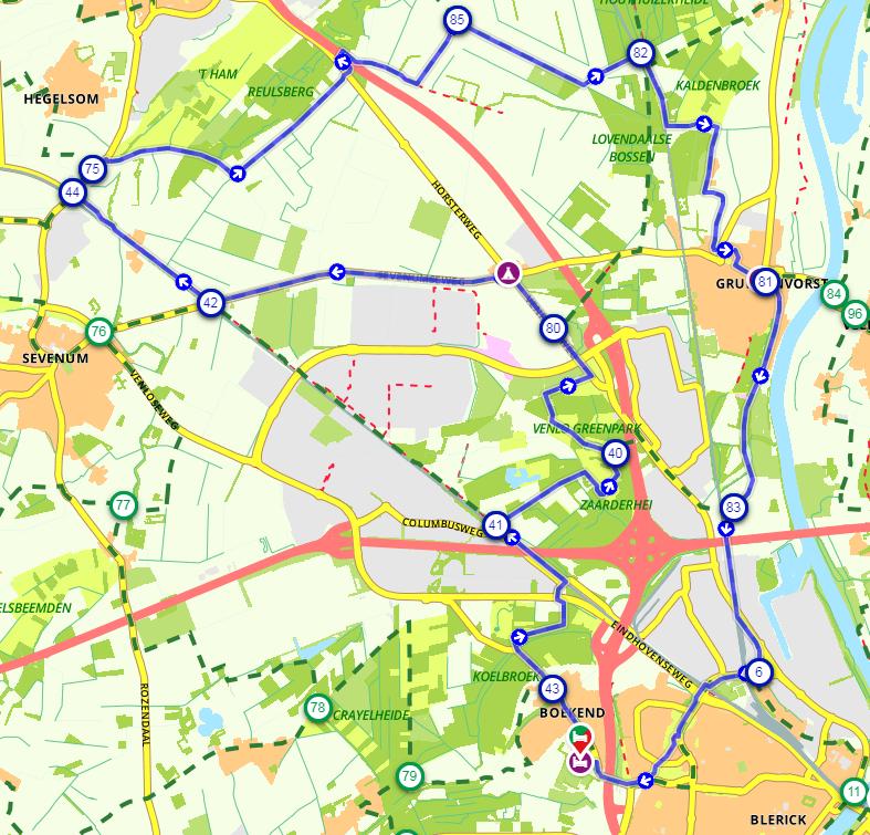 Route Floriade